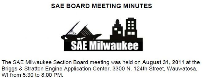 August 2011 Board Meeting Minutes