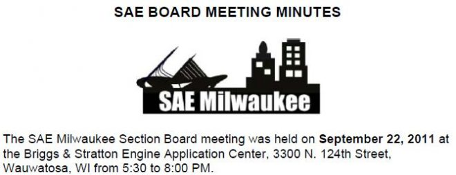 September 2011 Board Meeting Minutes