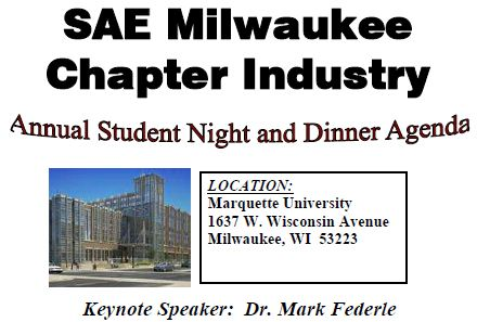November 2011 Newsletter – Student Night at Marquette