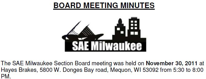November 2011 Board Meeting Minutes