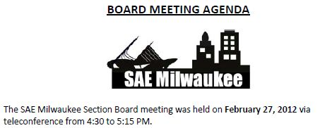February 2012 Board Meeting Minutes