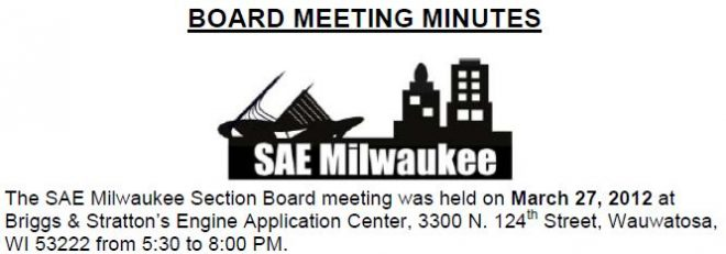 March 2012 Board Meeting Minutes
