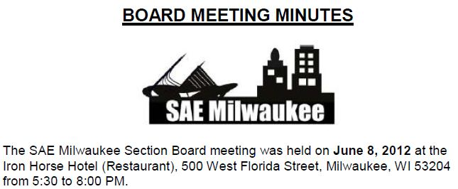 June 2012 Board Meeting Minutes
